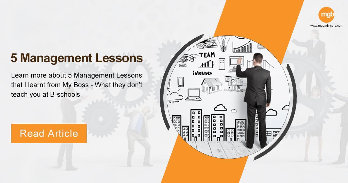 5 Management Lessons